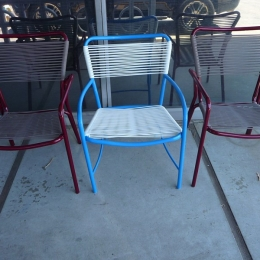 Corded Tamiami dining chairs