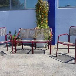 Corded Tamiami set loveseat, 2 chairs