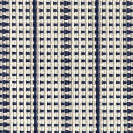 "FP-005 Stripe-Navy/Dove Fabric Width: 54"" Phifertex® Cane Wicker Fabric Repeat: Plain"