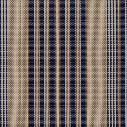 "FS-025 Leena Indigo Fabric Width: 54"" Phifertex® Stripe Fabric Repeat: Horizontal 9"""